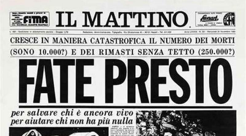 Pompei ricorda le vittime del terremoto del 1980 con un minuto di raccoglimento