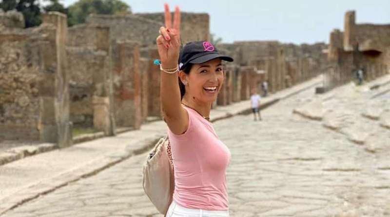 Giornata a Pompei per Caterina Balivo: la visita con la famiglia tra Scavi e Santuario