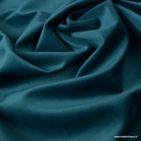 tissu velours d ameublement coloris petrole