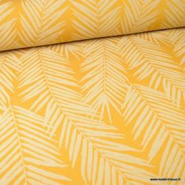 tissu ameublement jacquard ocre en grande largeur motifs feuillage theme tasmanie tissu ameublement jacquard ocre en grande largeur motifs