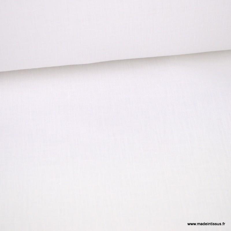 tissu lin super soft blanc optique pour draps en grande largeur haut de gamme