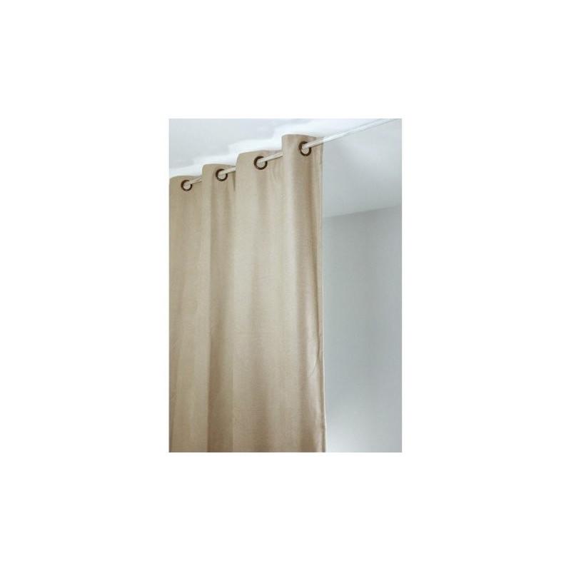 rideau isolant thermique 140x260 pret a poser beige
