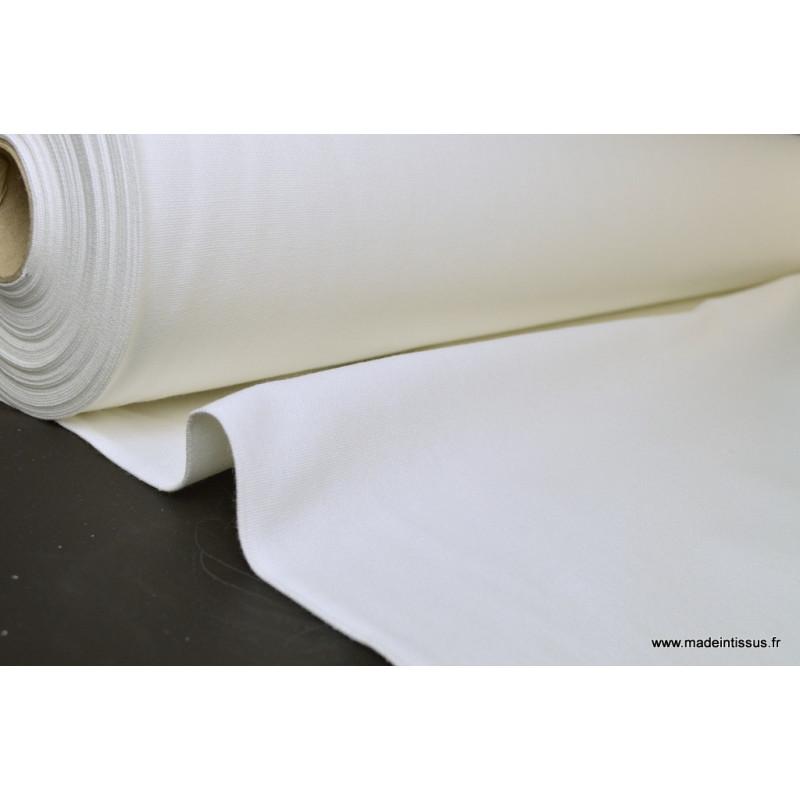 demi natte coton grande largeur blanc pour confection ameublement