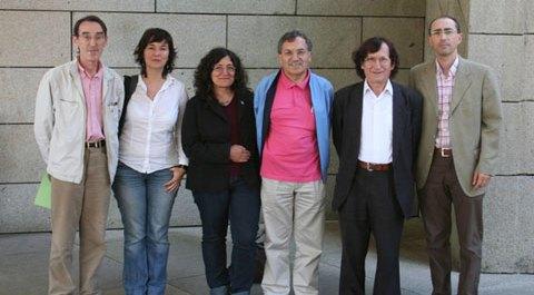 De esquerda para direita: Joám Trilho, Isabel Rei, Concha Rousia, Montero Santalha, Isaac Estraviz e Ângelo Cristóvão