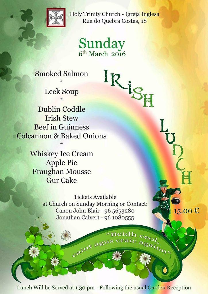 cartaz irlanda almoço 6 março 2016 (1)