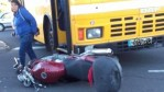 Motorcycle and bus collide - Madeira Active