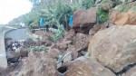 Rocks close road in Camara de Lobos