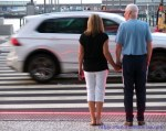 Pedestrian crossing with new technology