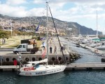 Lone sailor leaves Madeira for round the world.