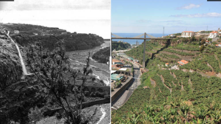 The evolution of Ribeira dos Socorridos after 90 years