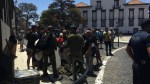 UNUSUAL: PARACHUTISTS 'FAIL THE TARGET' AND LAND IN BUILDINGS IN FUNCHAL