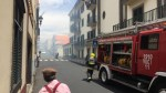 Fire in Old Town of Funchal