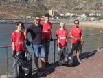LUDENS CLUBE COLLECTS SIX GARBAGE BAGS AT THE RECREATION PORT OF MACHICO