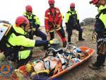 Mountain rescue drill at Pico Areeiro