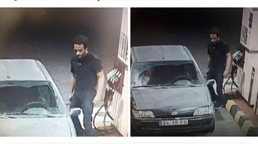IMAGES SHOW INDIVIDUALS WHO FLED IN VEHICLE WITH FALSE REGISTRATION WITHOUT PAYING FUEL IN GAULA