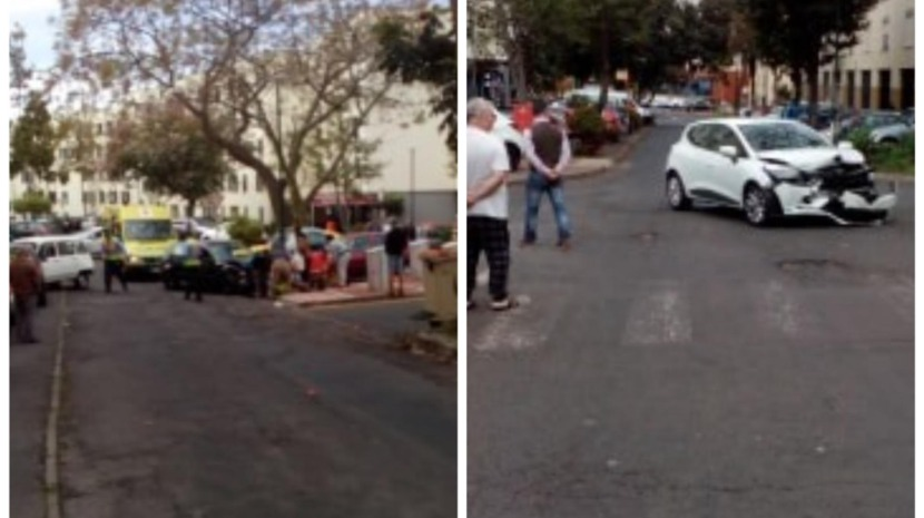 VIOLENT ACCIDENT LEAVES FIVE DAMAGED CARS THIS MORNING IN NAZARÉ