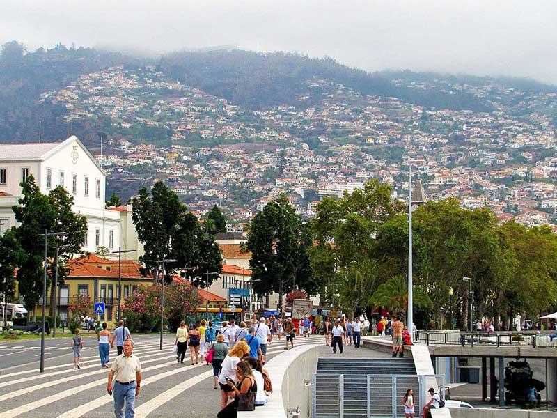 Madeira Funchal haven promenade hoofdstad