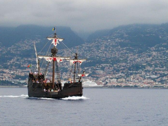 ship santa maria at madeira