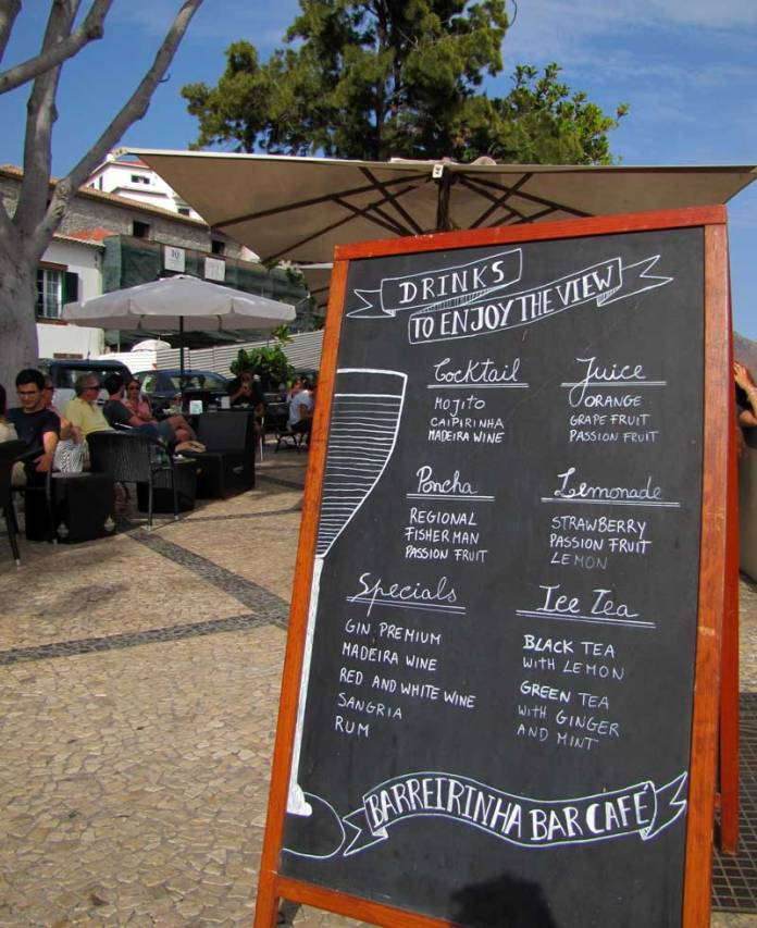 barreirinha bar terrace menu