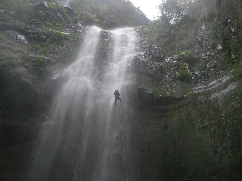canyoning madeira big abseil waterfall