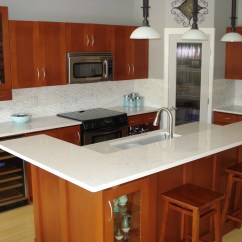 Quartz Kitchen Countertops Different Kinds Of Sinks For The On Pinterest White Subway Tiles