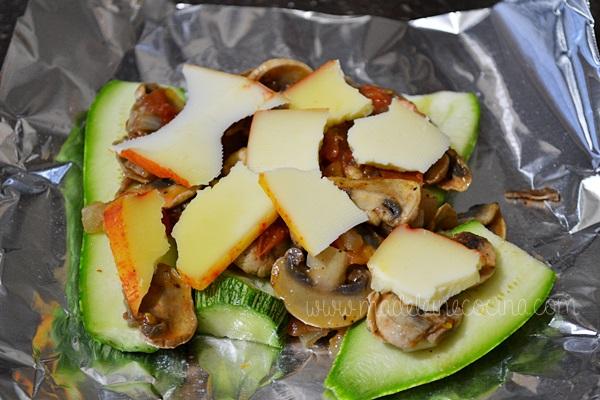 Calabacitas al horno o grill con queso  Madeleine Cocina