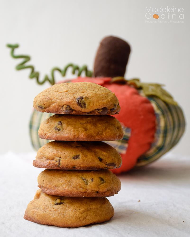 Galletas de chispas de chocolate con calabaza  Madeleine