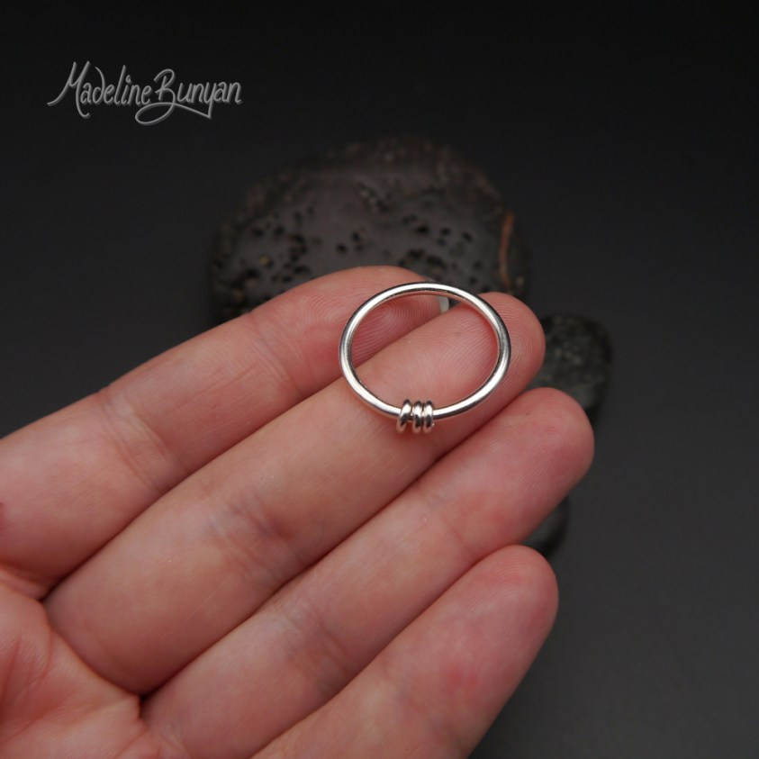 Simple Fidget Ring, Sterling Silver, Size O, L, P
