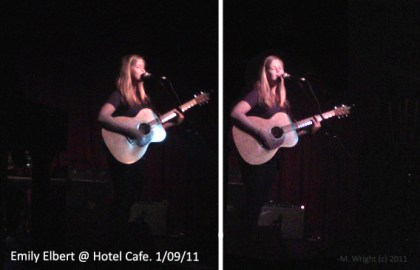 Emily Elbert at the Hotel Cafe