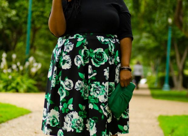 Dorothy Perkins midi skirt florals