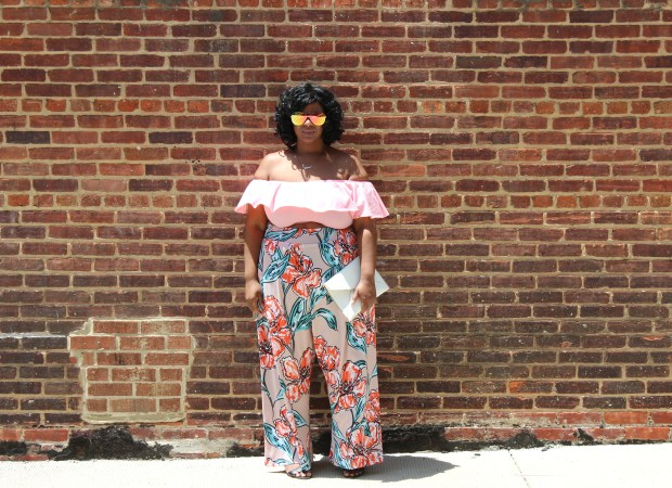 Rue107, wide leg, envelope clutch, flower power