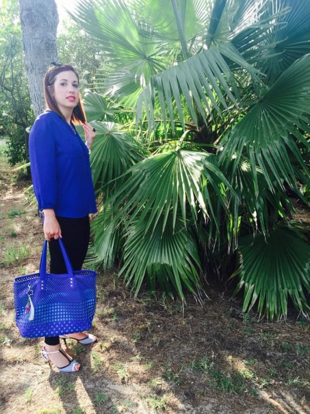 Look bleu palmier