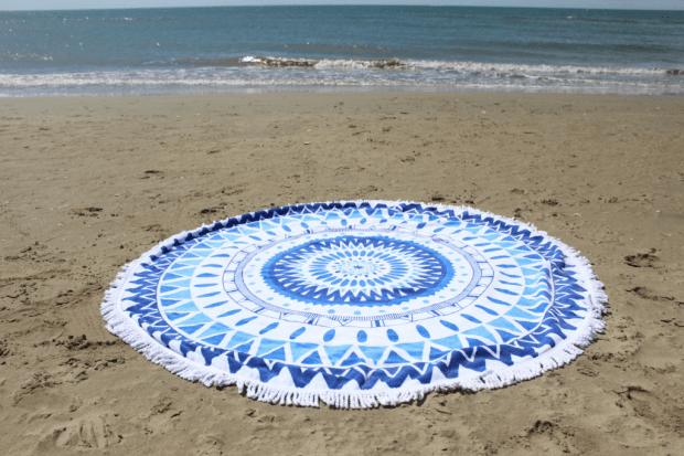 serviette ronde bleue_mademoiselle-e