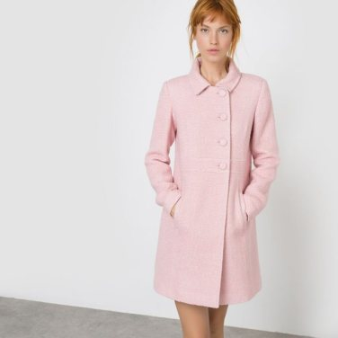 la redoute manteau rose mademoiselle-e