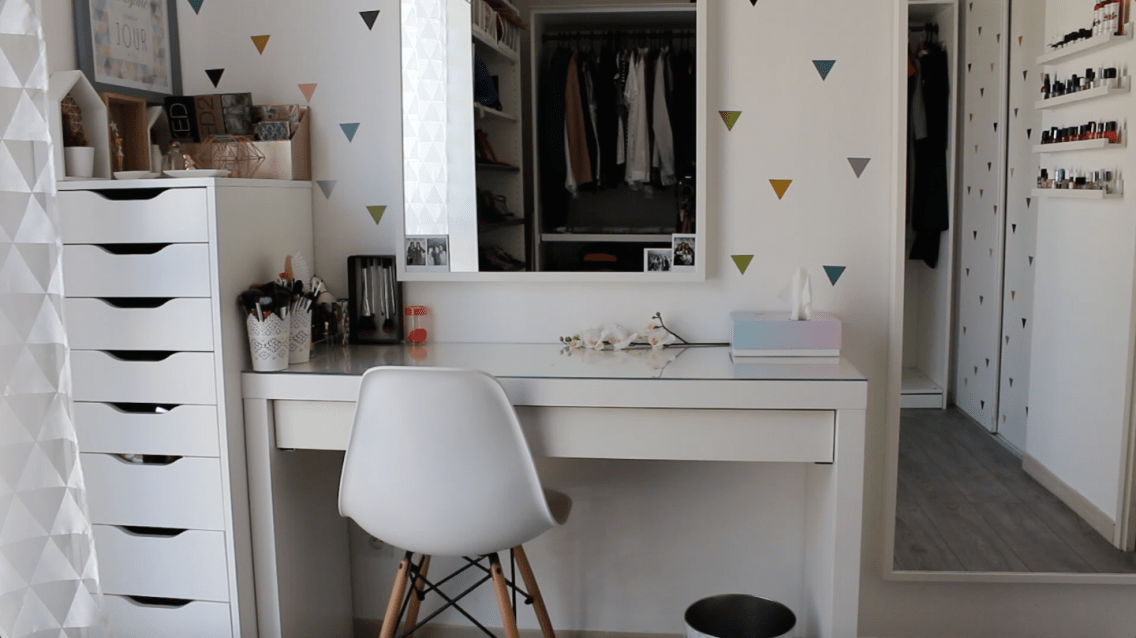room tour coiffeuse mademoiselle-e