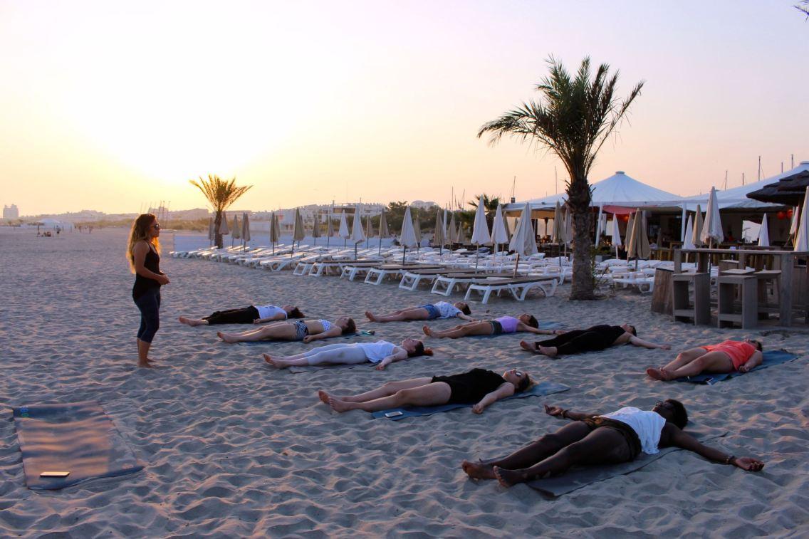 Grand Plage Boheme yoga cours 4 mademoiselle e