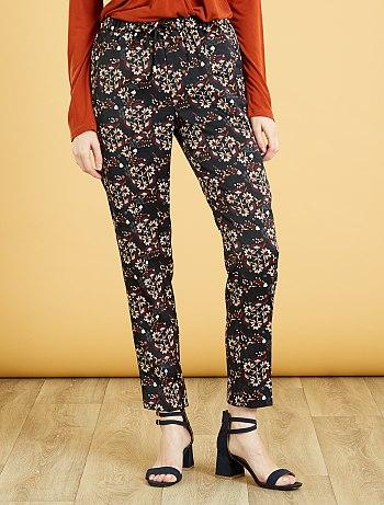 pantalon-confort-imprime-78eme-noir-imprime