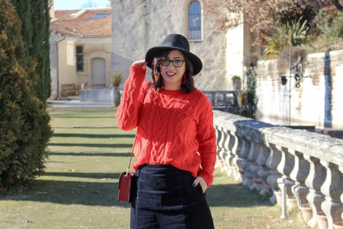 pull rouge torsade pimkie solde look hiver 11 mademoiselle e