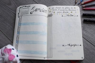 bullet journal bujo monthly log mademoiselle e