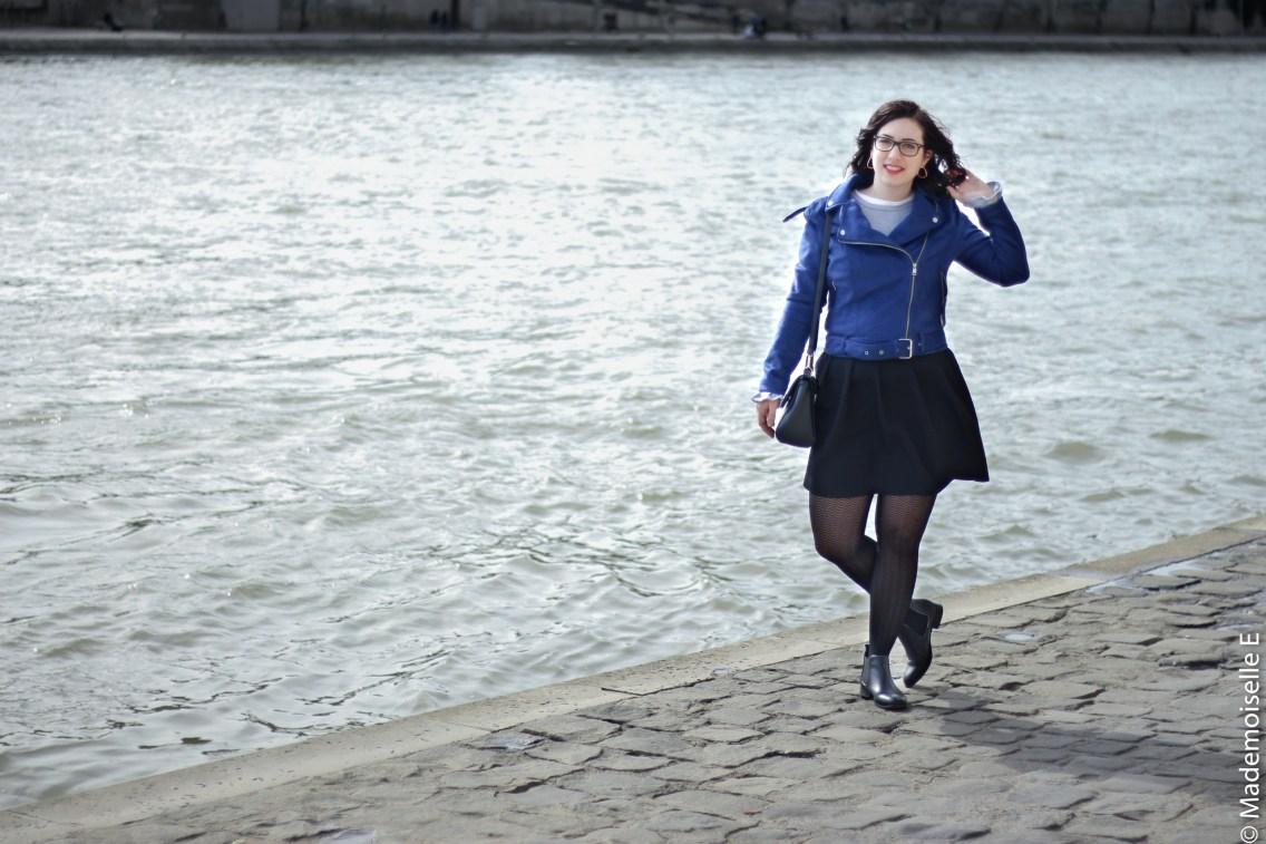 perfecto bleu électrique Kiabi 6 look mademoiselle-e
