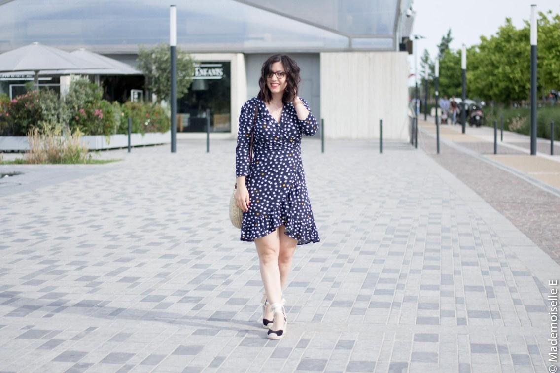 robe portefeuille pois volants Vila Clothes 2 mademoiselle-e look