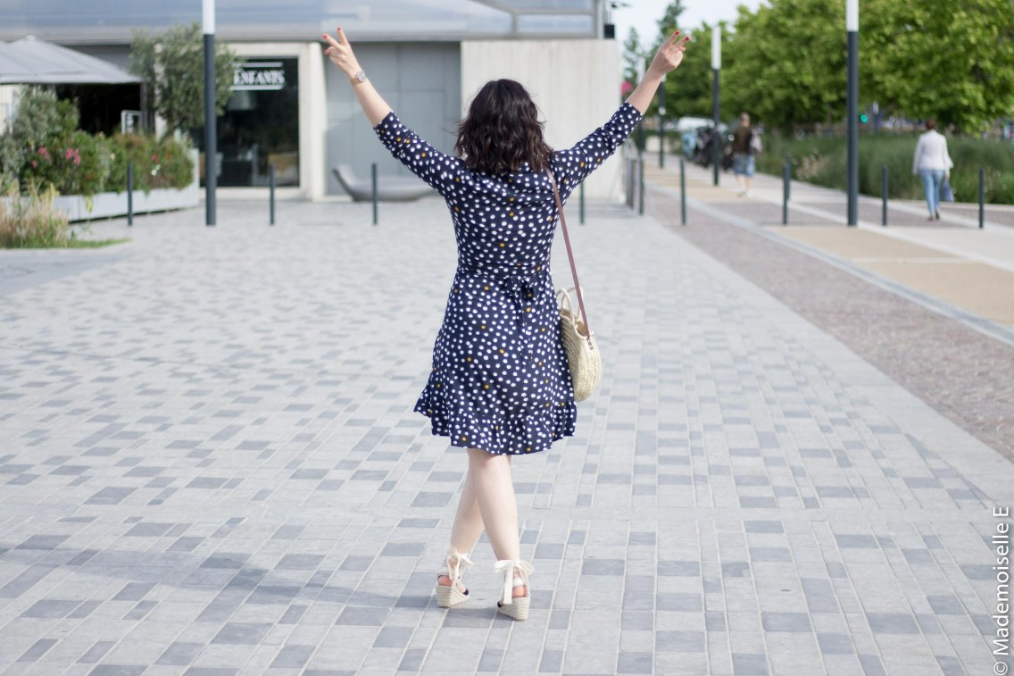 robe portefeuille pois volants Vila Clothes 7 mademoiselle-e look