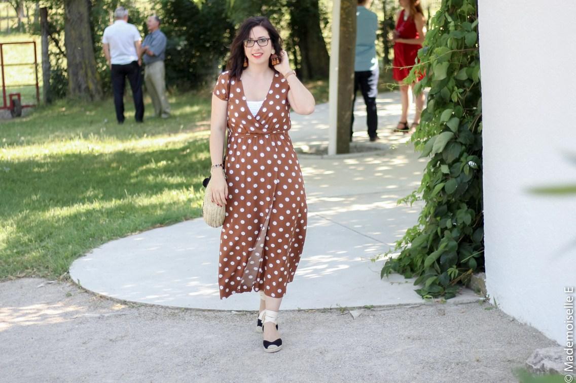 robe longue a pois 2 look été blog mode mademoiselle-e