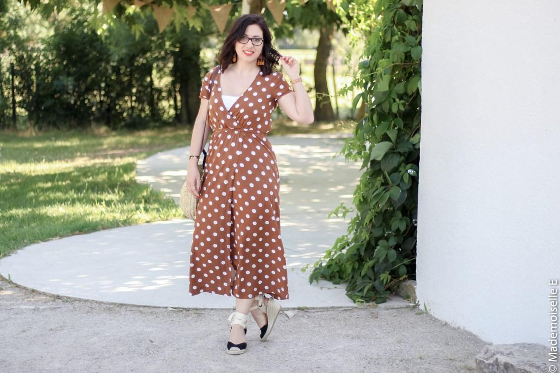 robe longue a pois 9 look été blog mode mademoiselle-e