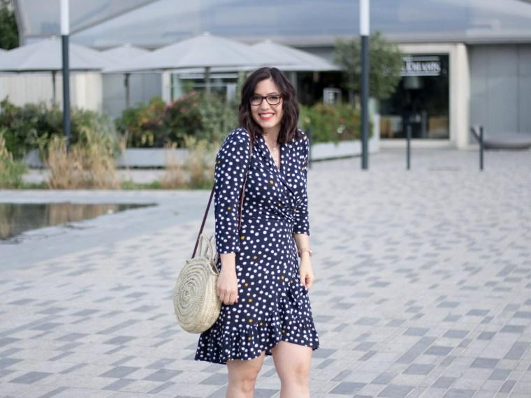 robe portefeuille pois volants Vila Clothes 19 mademoiselle-e look