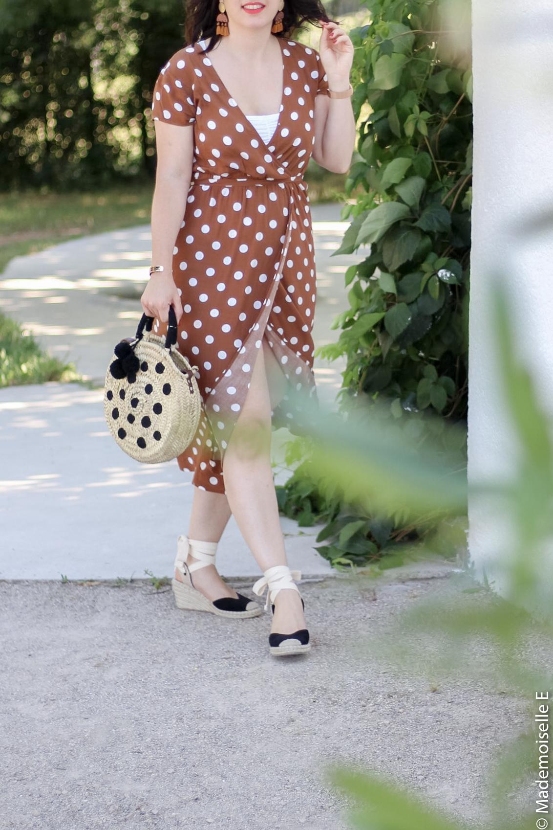 robe longue a pois 13 look été blog mode mademoiselle-e