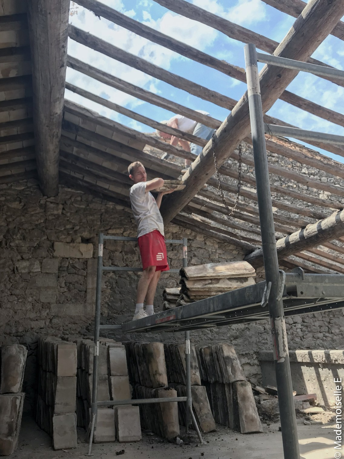 Fin gros oeuvre rénovation travaux loft 6 mademoiselle-e