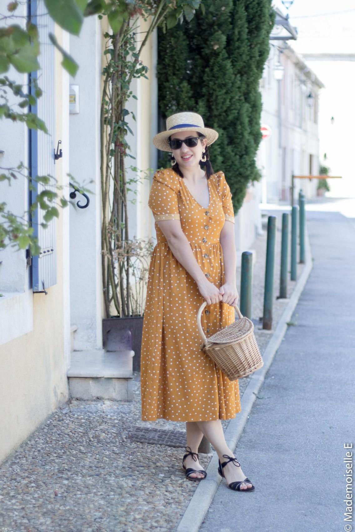 robe pois moutarde tendance été 13 mademoiselle-e
