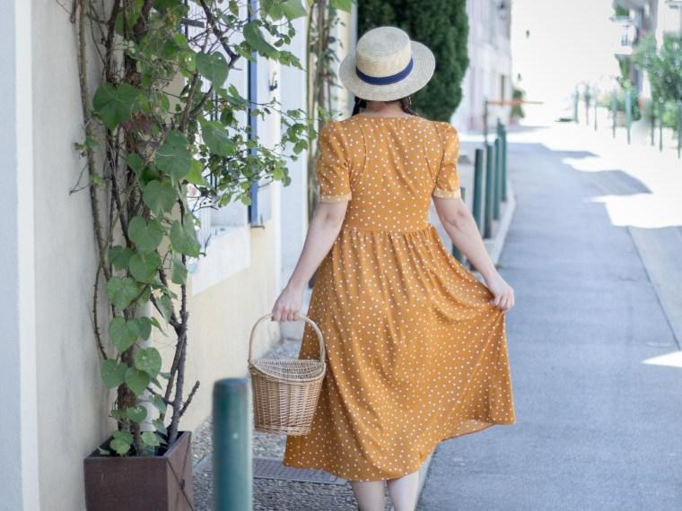 robe pois moutarde tendance été 10 mademoiselle-e