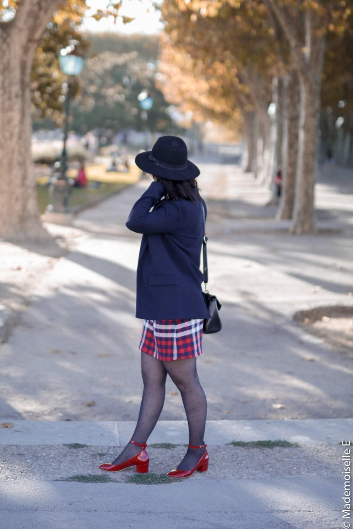 Blazer x jupe à carreaux 6 mademoiselle-e